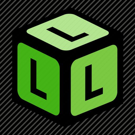 abc, alphabet, font, graphic, l, language, letter icon