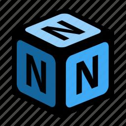 abc, alphabet, font, graphic, language, letter, n icon