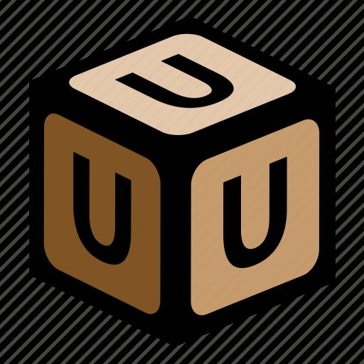 abc, alphabet, font, graphic, language, letter, u icon