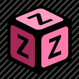 abc, alphabet, font, graphic, language, letter, z icon