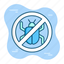 bug, danger, error, insect, trouble, virus, warning icon