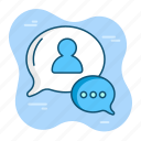 chat, communication, convertation, customer, help, message, speak icon