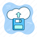 capacity, cloud, data, database, network, save, storage icon
