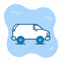 automobile, car, delivery, service, shiping, transportation, travel icon
