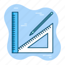 architec, construction, design, dimention, drawing, illustration, tools icon