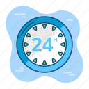 business, clock, hour, office, open, time icon