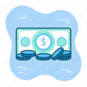 bank, cash, earning, finance, money, payment, withdraw icon