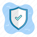 protection, safety, security, shield, trusted, verify icon
