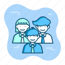 business, client, collab, employee, group, team, user icon