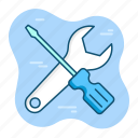 engineer, mechanic, option, repair, setting, tools, work icon