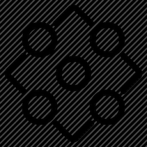 dice, figure, game, geometry, team icon