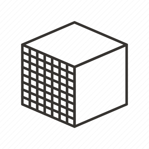 abstract, creative, cube, design, shape, sign icon