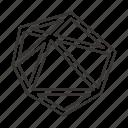 abstract, creative, design, polygon, shape, sign