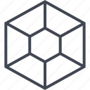 center, goal, hexagon, server, target icon