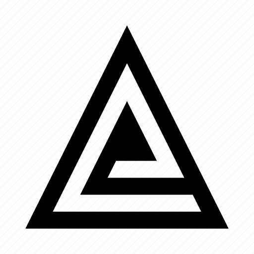 abstract, figure, shape, triangle icon