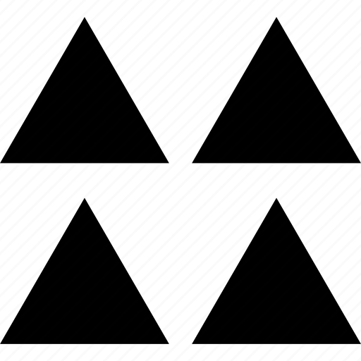 creative, four, triangles icon