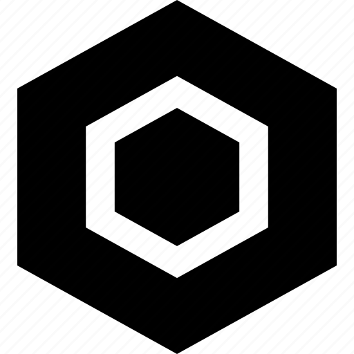 creative, hexagon, rotate icon
