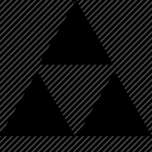 creative, three, triangles icon