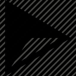 creative, side, triangle icon
