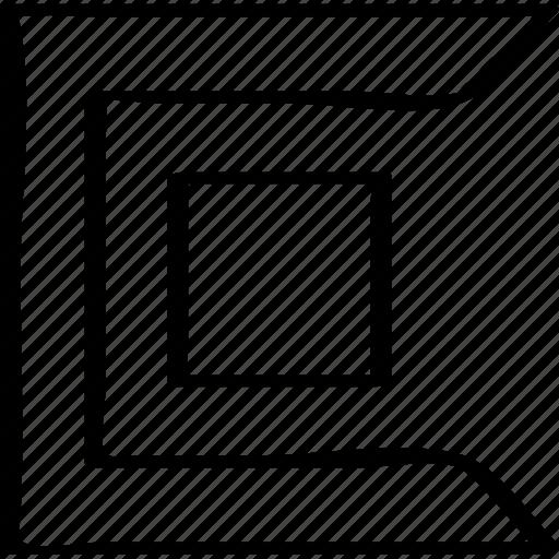 abstract, creative, design, sharp icon
