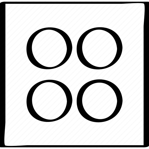 abstract, creative, design, dots, four icon