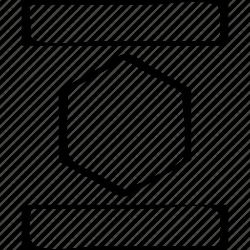 abstract, creative, design, hex icon