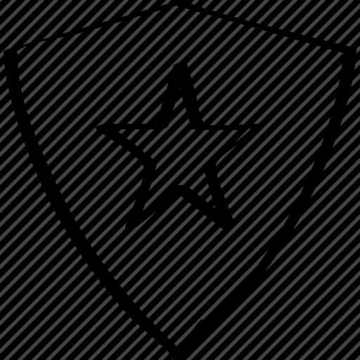 abstract, creative, design, shield, star icon