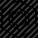 abstract, creative, design, hexagon icon