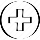 abstract, add, creative, design, plus icon
