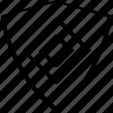 abstract, creative, design, hexagon, shield icon