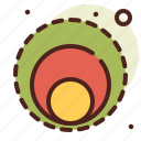 abstraction, circles, interface, shapes icon