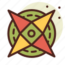 abstraction, compass, interface, shapes icon