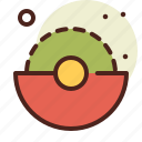 abstraction, disk, interface, shapes icon