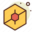 abstraction, hexagon, interface, shapes icon