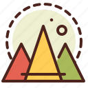 abstraction, interface, mountains, shapes icon