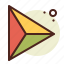 abstraction, interface, shapes, triangle icon