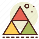 abstraction, interface, shapes, triangles icon