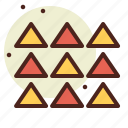 abstraction, interface, shapes, uparrows icon