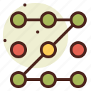 abstraction, interface, shapes, way icon