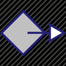 abstract, arrow, creative, design, go icon