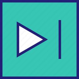 abstract, arrow, design, play, shape icon