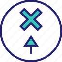 abstract, arrow, design, point, shape icon