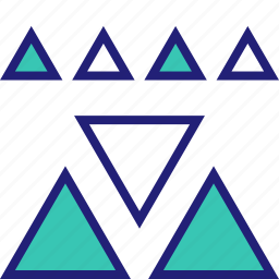 abstract, assorted, creative, design, triangles icon