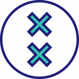 abstract, creative, crosses, design, two icon