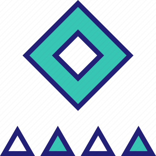 abstract, creative, cube, design icon