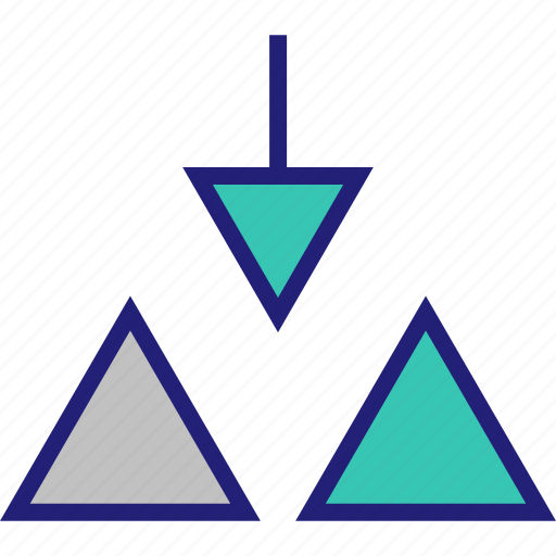 abstract, arrow, creative, design, triangles icon