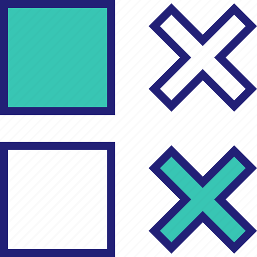 abstract, design, double, shape, x icon