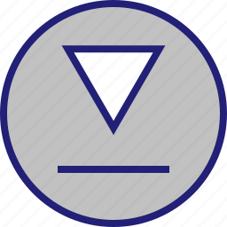 abstract, design, down, shape icon