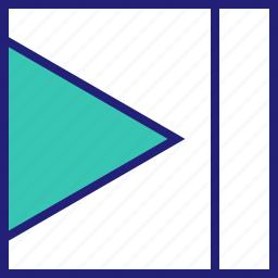 abstract, creative, design, go, next icon