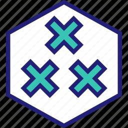 abstract, creative, design, stop, x icon